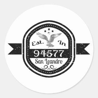 Adesivo Redondo Estabelecido em 94577 San Leandro