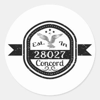 Adesivo Redondo Estabelecido na concórdia 28027