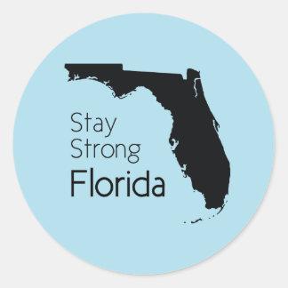 Adesivo Redondo Estada Florida forte