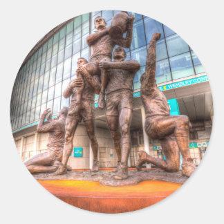 Adesivo Redondo Estádio de Wembley da estátua das legendas da liga