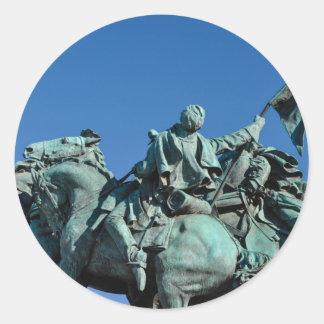 Adesivo Redondo Estátua do soldado da guerra civil em Washington