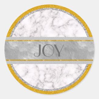 Adesivo Redondo Estilo de mármore elegante