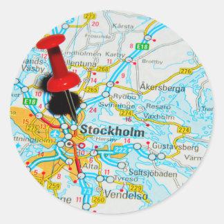 Adesivo Redondo Éstocolmo, suecia