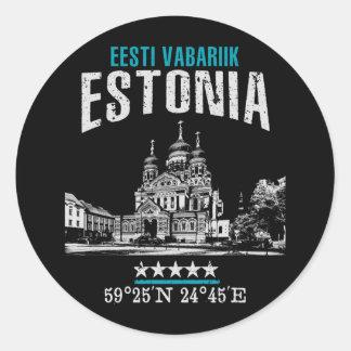 Adesivo Redondo Estónia