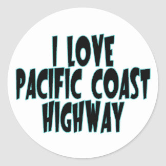 Adesivo Redondo Estrada da Costa do Pacífico
