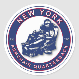 Adesivo Redondo Estratego da poltrona - futebol de New York