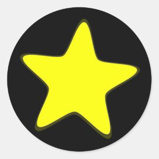 Adesivo Redondo Estrela