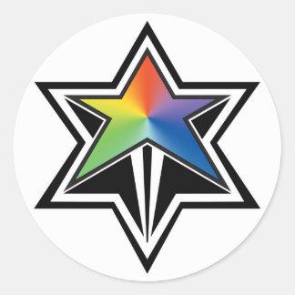 Adesivo Redondo Estrela do arco-íris