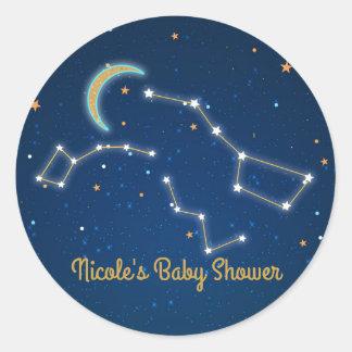 Adesivo Redondo Estrela do Dipper grande que olha a constelação
