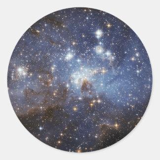 Adesivo Redondo Estrela do LH 95 que forma a NASA da região