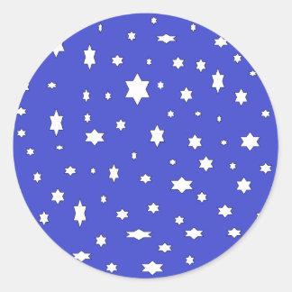 Adesivo Redondo estrelado-nite