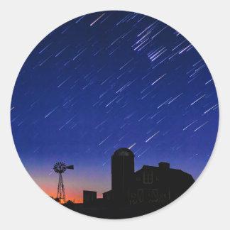 Adesivo Redondo Estrelas da fazenda