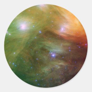 Adesivo Redondo Estrelas de Pleiades em SSC2007 infravermelho 07A