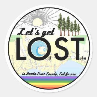 Adesivo Redondo Estudos do Local em Santa Cruz County, CA