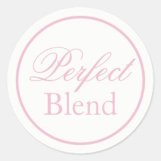 "Adesivo Redondo ""Etiqueta do casamento da mistura perfeita"" - cora"