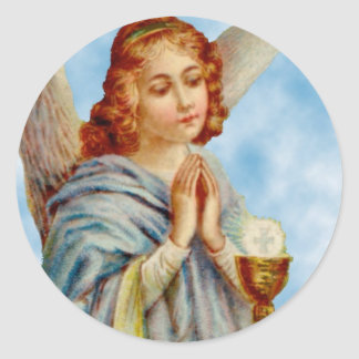 Adesivo Redondo Etiquetas: O anjo Ponders