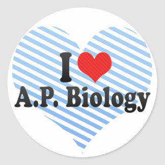 Adesivo Redondo Eu amo A.P. Biologia