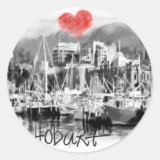 Adesivo Redondo Eu amo Hobart
