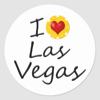 Adesivo Redondo Eu amo Las Vegas