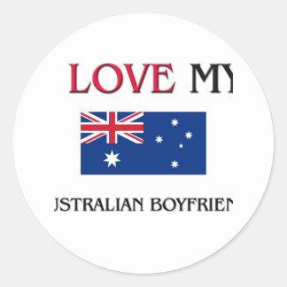 Adesivo Redondo Eu amo meu namorado australiano