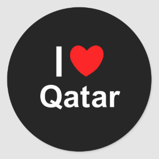 Adesivo Redondo Eu amo o coração Qatar