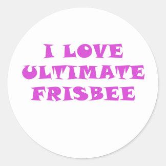Adesivo Redondo Eu amo o Frisbee final