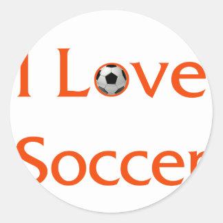 Adesivo Redondo Eu amo o futebol