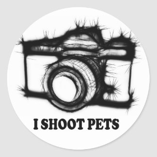 Adesivo Redondo Eu disparo em animais de estimação
