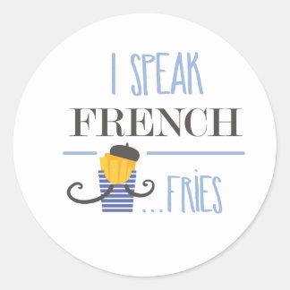 Adesivo Redondo Eu falo o francês… Fritadas