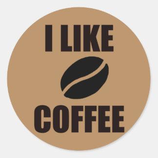 Adesivo Redondo Eu gosto do café