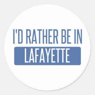 Adesivo Redondo Eu preferencialmente estaria em Lafayette DENTRO