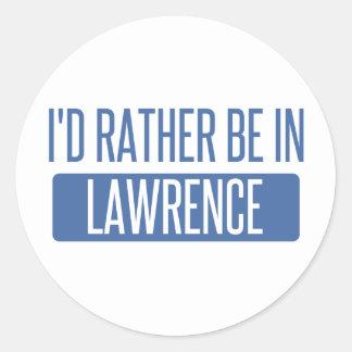 Adesivo Redondo Eu preferencialmente estaria em Lawrence DENTRO