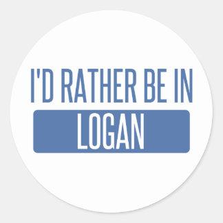 Adesivo Redondo Eu preferencialmente estaria em Logan