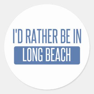 Adesivo Redondo Eu preferencialmente estaria em Long Beach CA