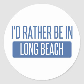 Adesivo Redondo Eu preferencialmente estaria em Long Beach NY