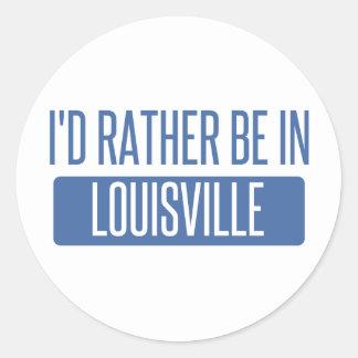 Adesivo Redondo Eu preferencialmente estaria em Louisville