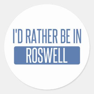 Adesivo Redondo Eu preferencialmente estaria em Roswell nanômetro