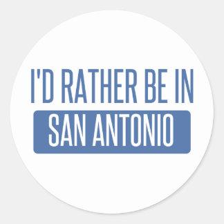 Adesivo Redondo Eu preferencialmente estaria em San Antonio