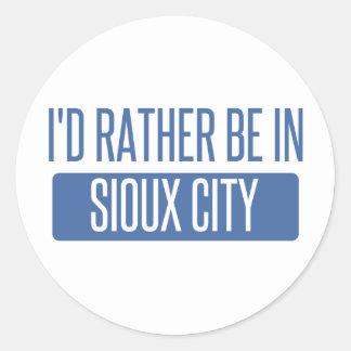 Adesivo Redondo Eu preferencialmente estaria em Sioux City