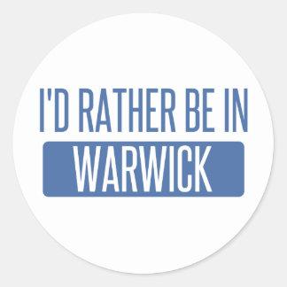 Adesivo Redondo Eu preferencialmente estaria em Warwick