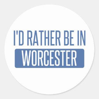 Adesivo Redondo Eu preferencialmente estaria em Worcester
