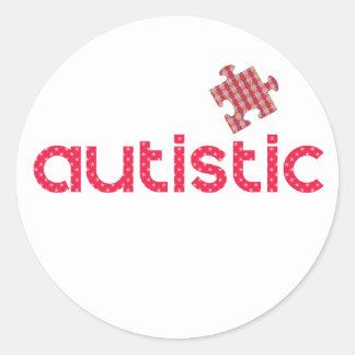 Adesivo Redondo Eu sou autístico