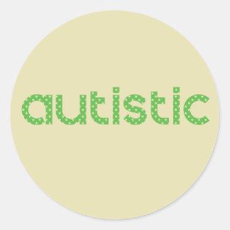 Adesivo Redondo Eu sou consciência autística