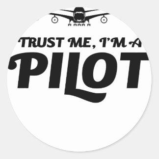 Adesivo Redondo Eu sou um piloto
