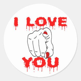Adesivo Redondo Eu te amo