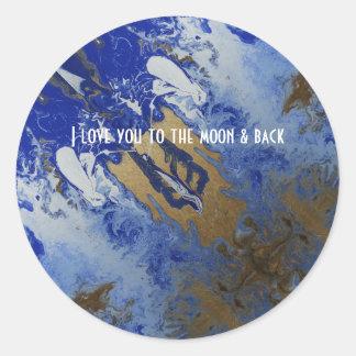 Adesivo Redondo Eu te amo à lua