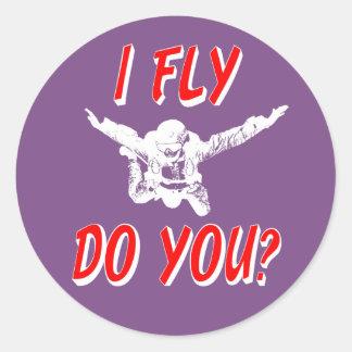 Adesivo Redondo Eu vôo, faz você? (branco)