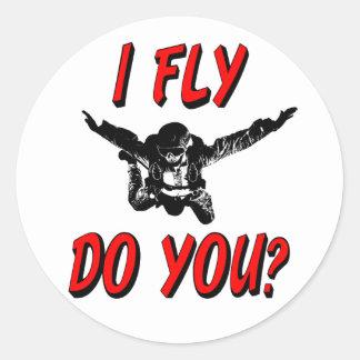 Adesivo Redondo Eu vôo, faz você? (preto)