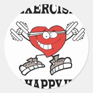 Adesivo Redondo exercício heart2