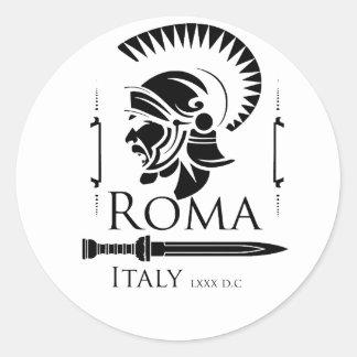 Adesivo Redondo Exército romano - Legionary com Gladio